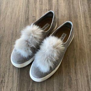 Steve Madden slip-ons with fur